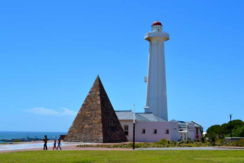 The lighthouse and pyramid at Donkin Reserve, Port Elizabeth