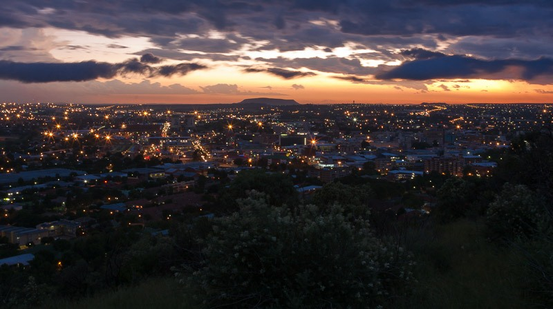 Bloemfontein at sunset from Naval Hill