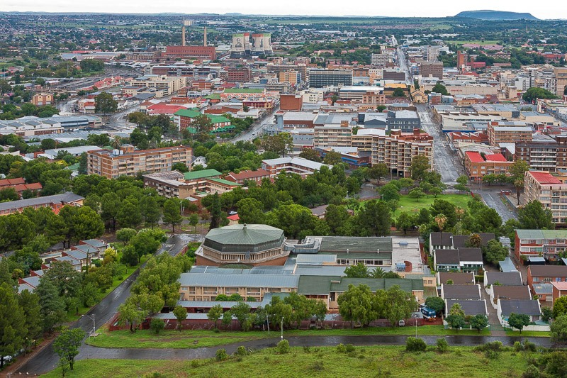 Bloemfontein CBD seen from Naval Hill looking in a southern direction