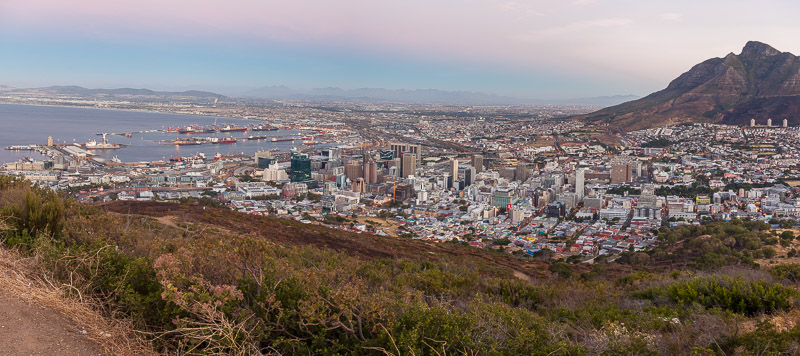Cape Town from Leeukop lookout point