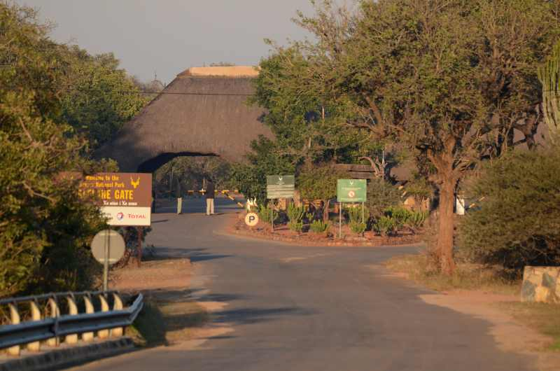 As you approach Malelane Gate you cross the Crocodile River