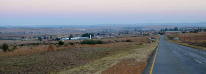 View approaching Amsterdam from Piet Retief