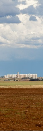 Ventersdorp is just left of the silos