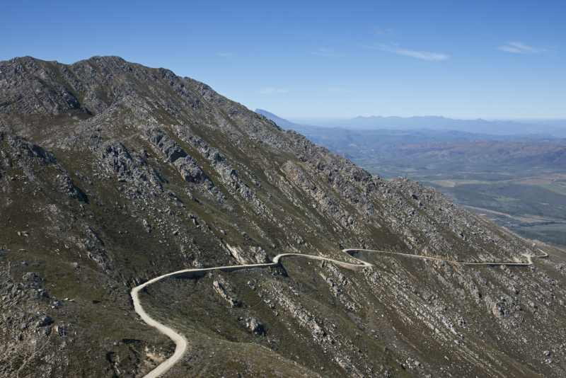 The twisty road over the Swartberg Pass